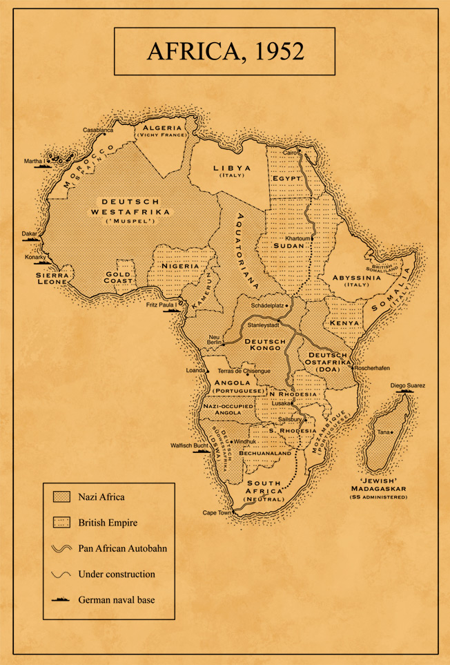 Map of Nazi Africa
